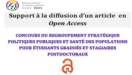 Soutien à la diffusion d'un article en Open Access