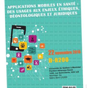 Colloque sur les applications mobiles en santé : des usages aux enjeux éthiques, déontologiques et juridiques