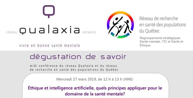 Webminaire: Éthique et intelligence artificielle, quels principes appliquer pour le domaine de la santé mentale?