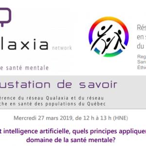 Webinaire: Éthique et intelligence artificielle, quels principes appliquer pour le domaine de la santé mentale?