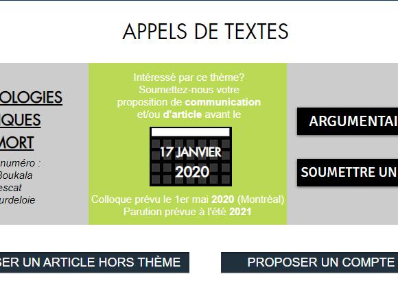 """Appel à communications/articles sur """"Les technologies numériques et la mort"""""""