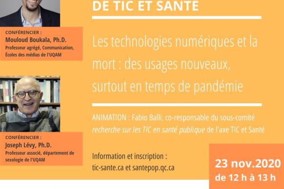 Les technologies numériques et la mort : références, vidéo et présentation des conférenciers