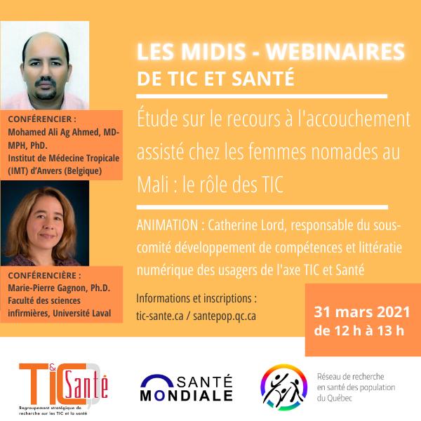 TIC + Santé mondiale   Recours à l'accouchement assisté chez les femmes nomades au Mali : le rôle des TIC